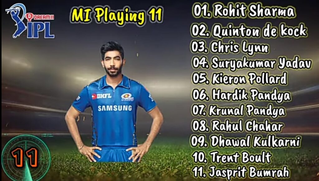 Chennai super kings vs Mumbai Indians dream 11 team