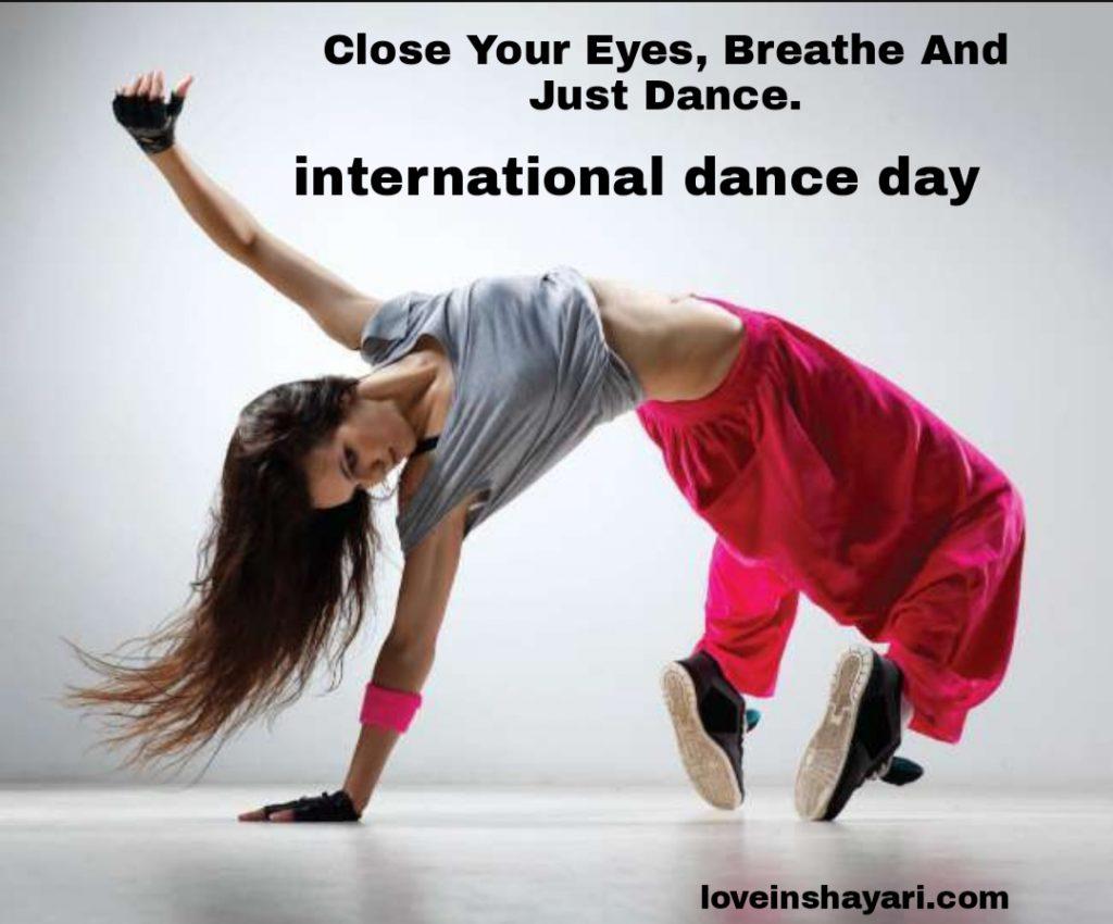 International dance day shayari wishes in english